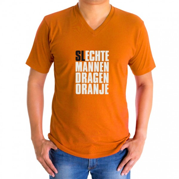 oranje v hals shirt