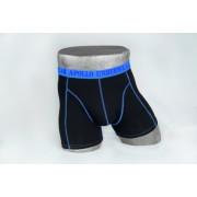 Heren boxer zwart/blauw