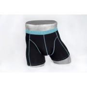 Heren boxer zwart/lichtblauw